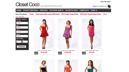 Closet Coco - Portfolio - E-commerce - Big pepper
