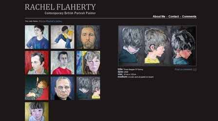 Flaherty Art - Gallery Web Design Wakefield