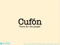 Text replacement using Cufon